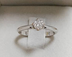 Solitario diamante 0.38 ct